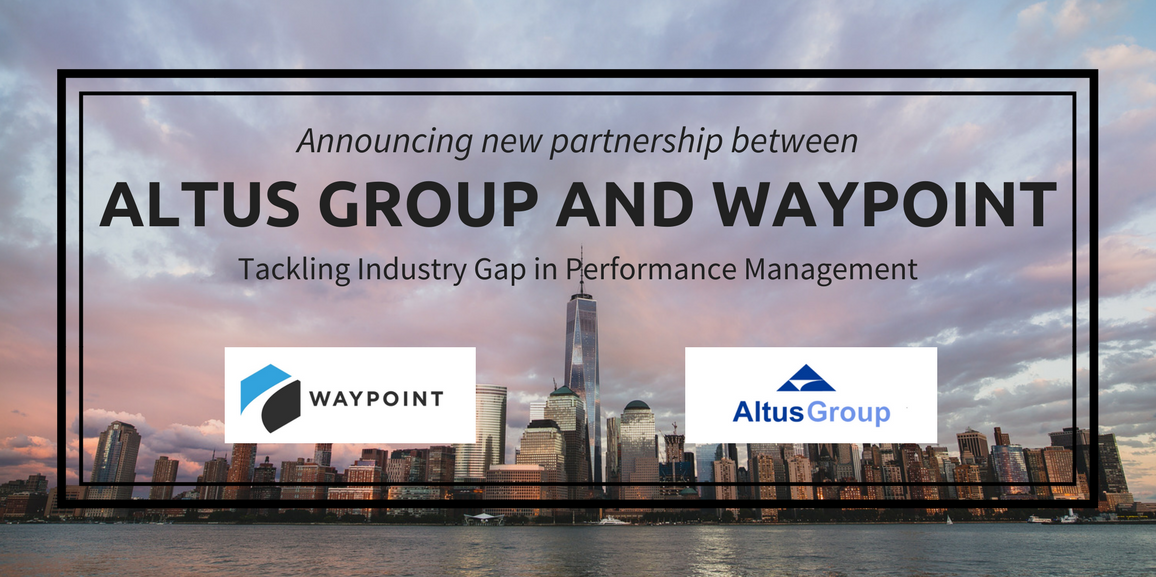 Announcing new partnership between Waypoint and Altus Group
